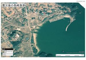 日本地理学会津波被災マップ (小田の浜)